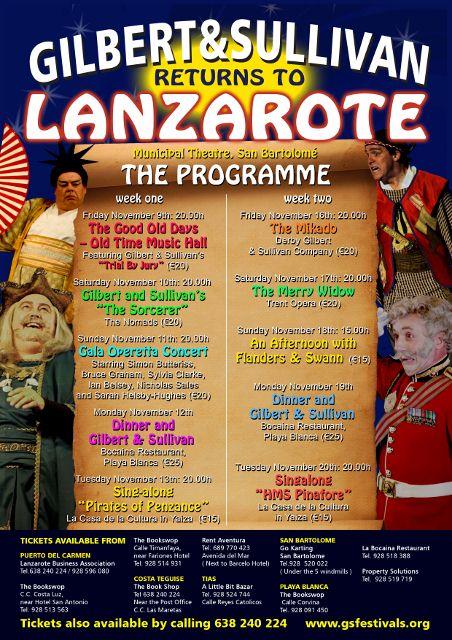G&S Festivals return to Lanzarote