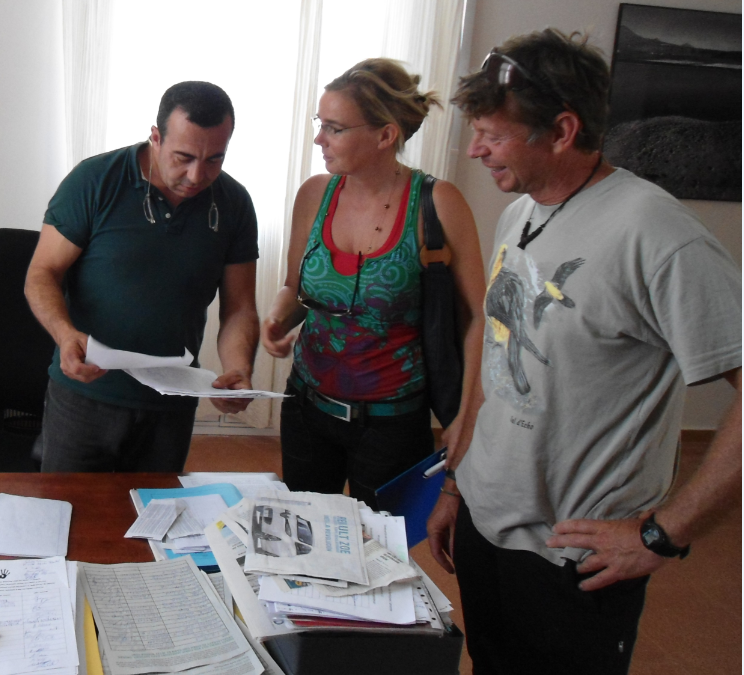 No to Oil Signatures presented to Global Action Lanzarote office