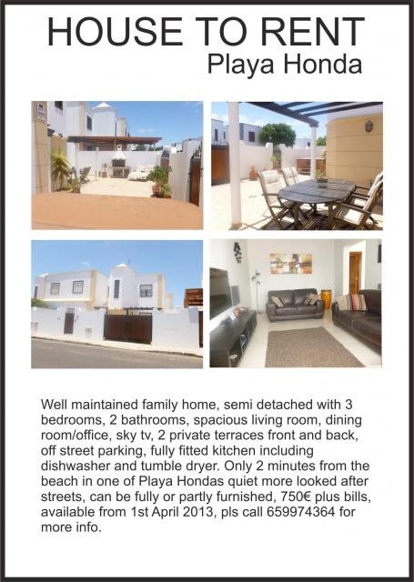 House to Rent in Lanzarote