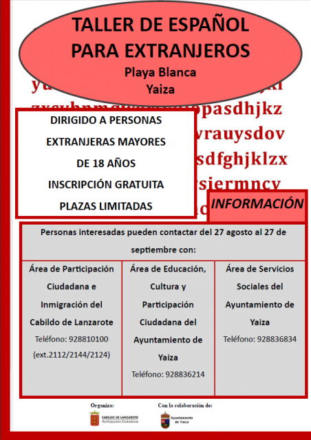 Spanish classes for foreigners in Playa Blanca