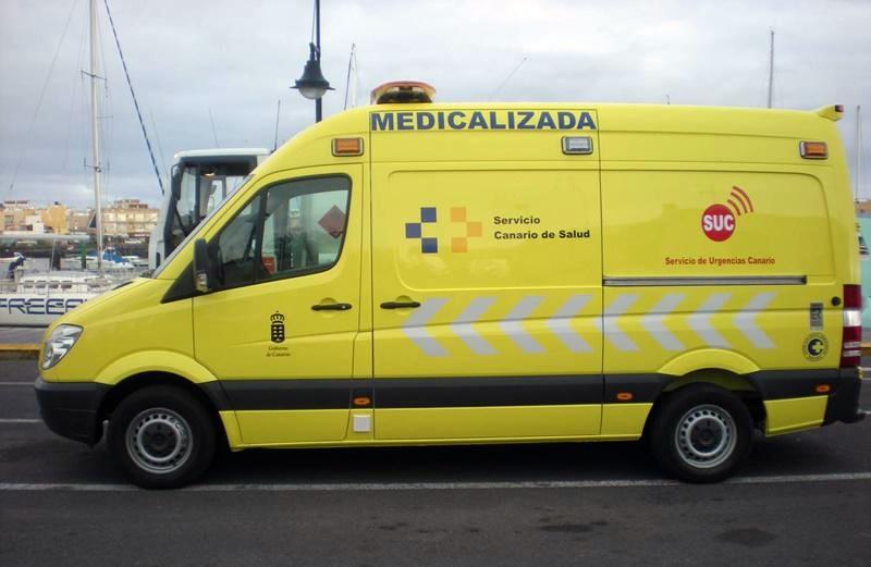 Medicalized ambulance for Playa Blanca