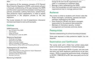 Data Protection Courses