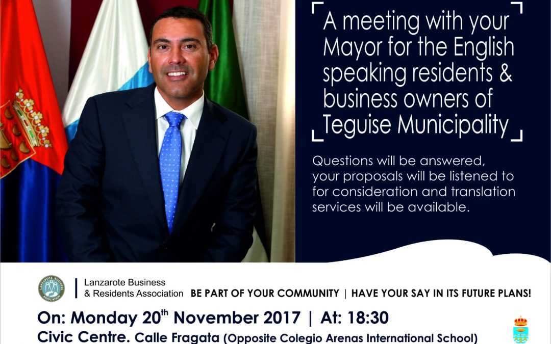 Meeting with Teguise Mayor