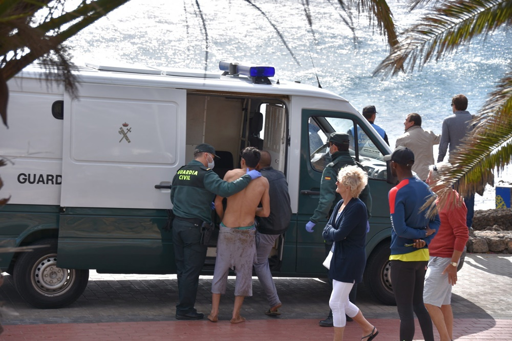 Arrested the alleged skipper who arrived yesterday in Lanzarote