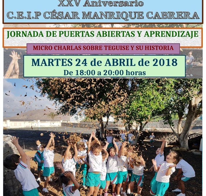The CEIP César Manrique celebrates a conference on the history of Teguise
