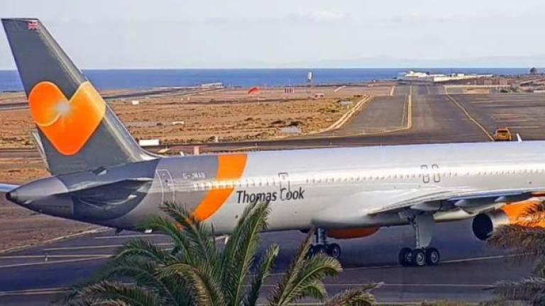 Emergency landing in Lanzarote