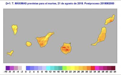 Increase in temperatures in Lanzarote