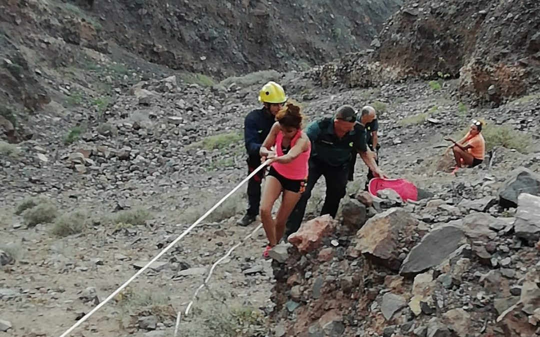 "Rescued two women ""trapped"" in the cliff of Famara"