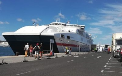 More than one million passengers between Playa Blanca and Corralejo during 2018