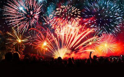 NEW YEARS EVE FIREWORKS DISPLAY IN PUERTO DEL CARMEN