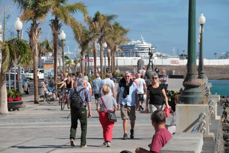 More than 520,000 cruise passengers arrived in Arrecife in 2019
