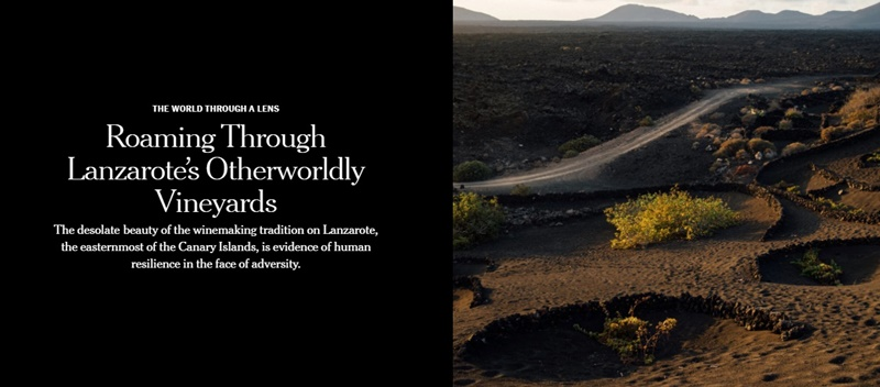 The New York Times recommends visiting Lanzarote