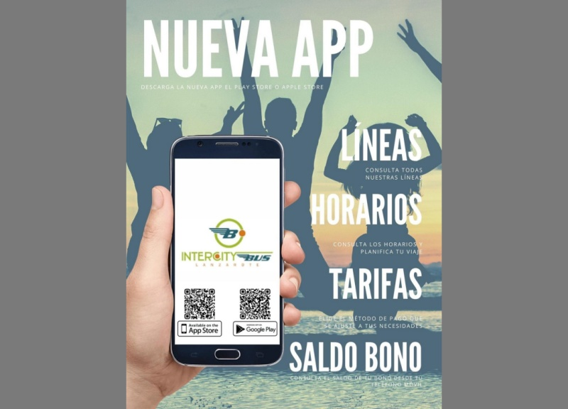Lanzarote launches a free mobile application for interurban public transport